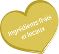 Icône ingrédients frais et locaux