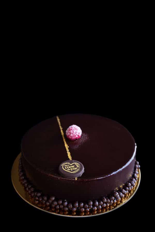 gâteau choco framboises